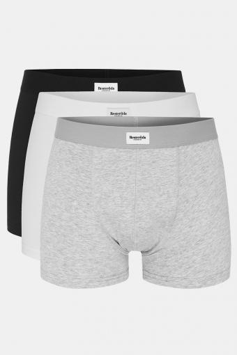 Resteröds 3-Pack 7933 1 Boxers White Grey Black