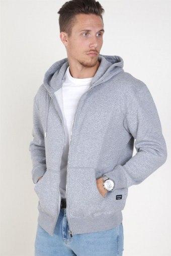 Soft Sweat Zip Hood Light Grey Melange