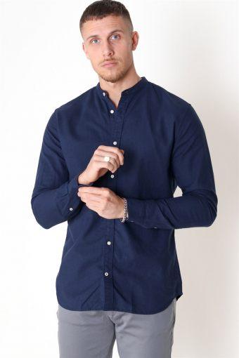 Summer Band Overhemd L/S Navy Blazer