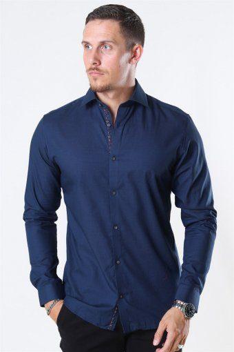 Viggo Dobby Overhemd Navy Blazer