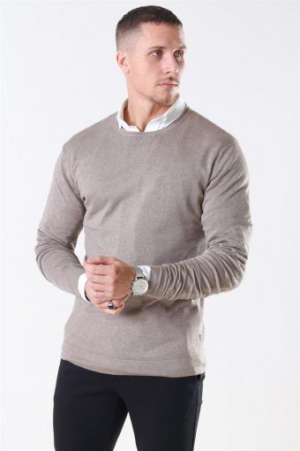 Tailored & Originals Mont Breien O-Neck Dune Melange