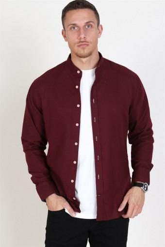 Dean Henley Overhemd Bordeaux