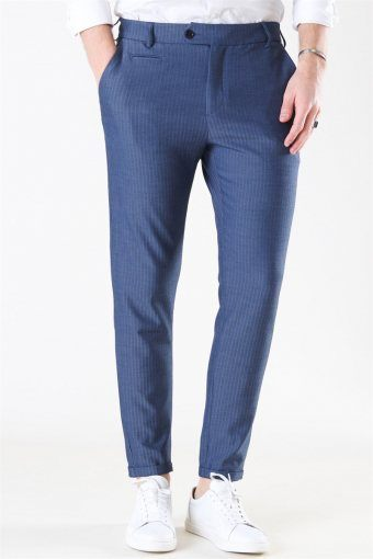 Como Herringbone Suit Pants Dark Navy