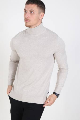 Emil Turtleneck Strik Oatmeal