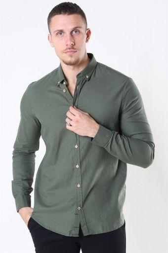 Johan Diego Cotton Overhemd Army