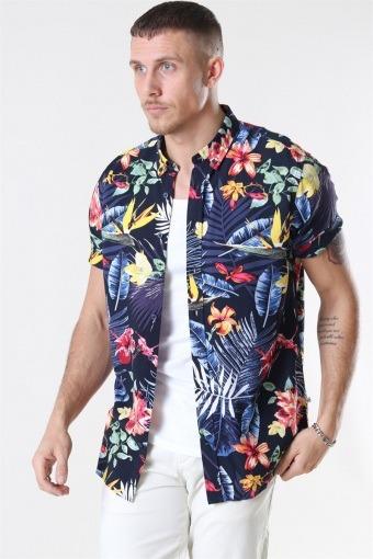 Johan Exotic S/S Overhemd Navy 7