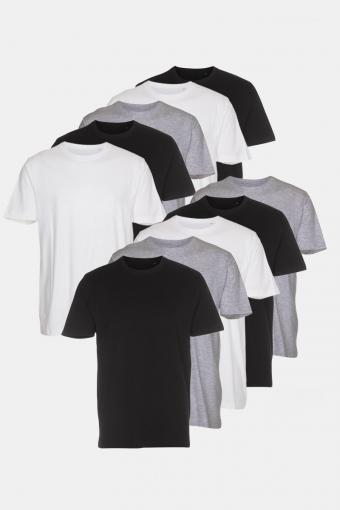 T-shirt 10-pack Black/White/ Light Grey Melange