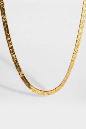 Herringbone Halskæde Gold
