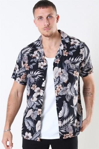 Tailored & Originals Pasha S/S Overhemd Dark Grey