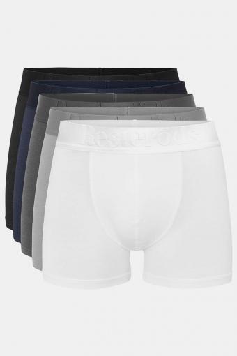 Resteröds Bambu 5-Pack Gunnar Boxers White/Grey/Light Grey/Navy/Black