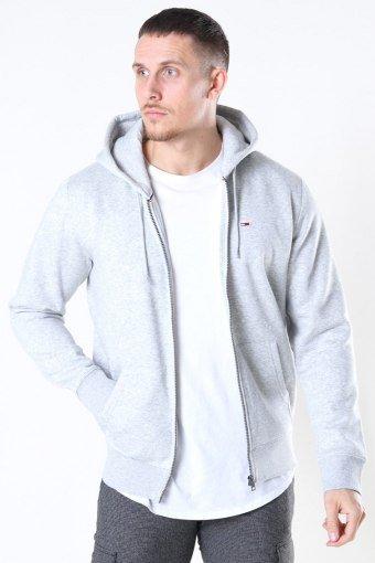 Fleece Zip Hoodie Light Grey