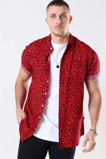 Grande S/S Overhemd Red Leo