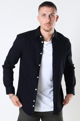 Lenny Denim Overhemd Black
