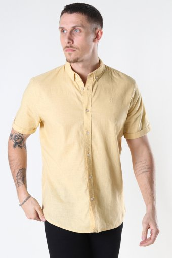 Cotton / Linnen Shirt S/S Pastel Yellow