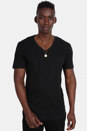 Basic V-Neck Tee  Black