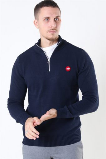 Liam Half Zip Recycle Breien Navy