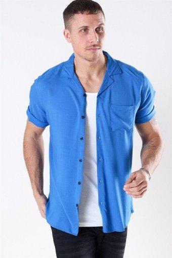 Silo Solid ViSchoense Skjorte S/S Baleine Blue