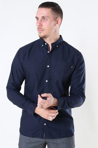 Classic Soft Oxford Overhemd LS Navy Blazer