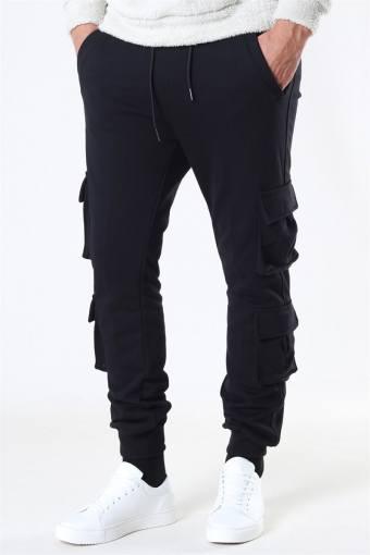 Klokban Classics Double Pocket Terry Sweat Pants Black