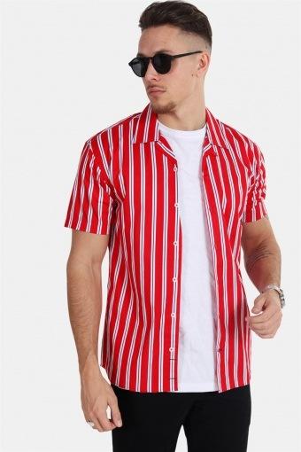 Cuba S/S Gr.81 Overhemd Red/White/Blue