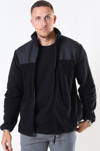 Fleece Zip Puller Jas Black