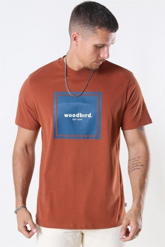 Our Box Jubi T-shirt Clay Brown