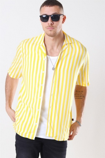 El S/S Cuba Overhemd Yellow/White