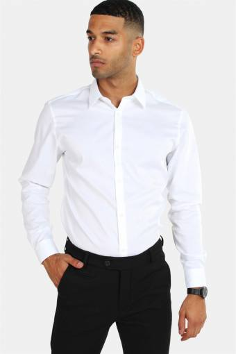 Non Iron Overhemd L/S White