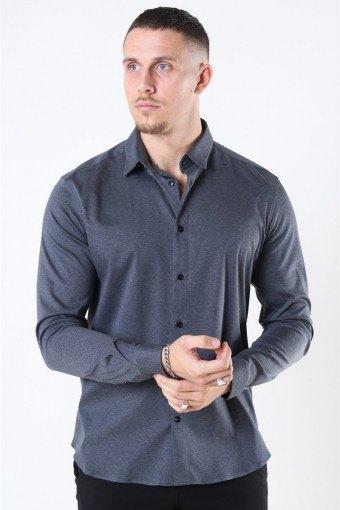 Mos Mosh Marco Jersey Overhemd Dark Grey Melange