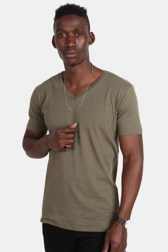 Klokban Classics TB1559 Basic V-Neck T-shirt Olive