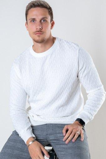 Bertil Cotton crew neck knit Off White