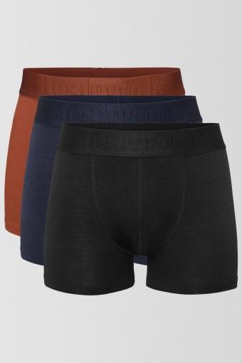 Resteröds Bambu 3-Pack Gunnar Boxers Orange/Blue/Black