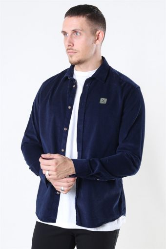 Clean Cut Corduroy Overhemd L/S Navy