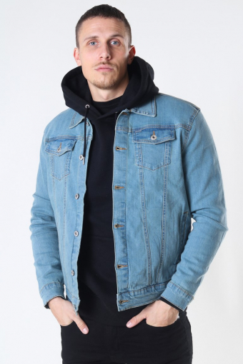 Peyton Denim Jas Light Village Blue Denim