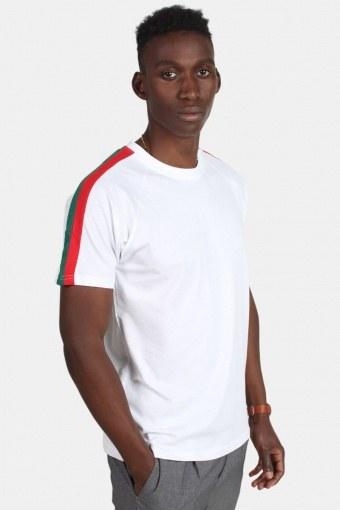 Klokban Classic TB2059 Stripe Shoulder Raglan T-shirt White/Firered/Green