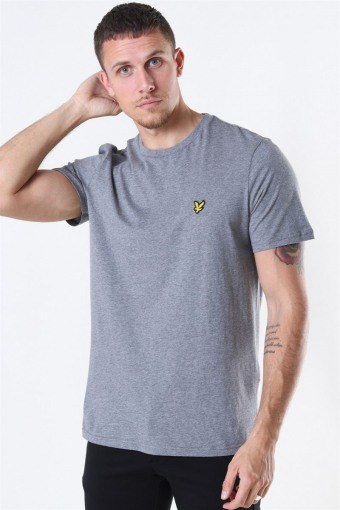 Crew Neck T-shirt Mid Grey Marl