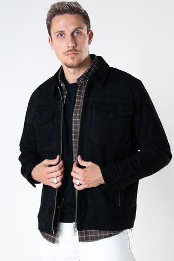 Carl Suede Jacket Black