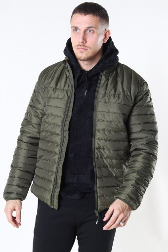Paul Quilted Highneck Jas Olive Night