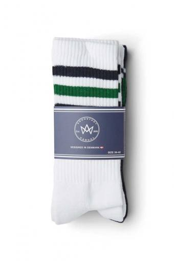 Nad 4-pack socks White/Navy/Green