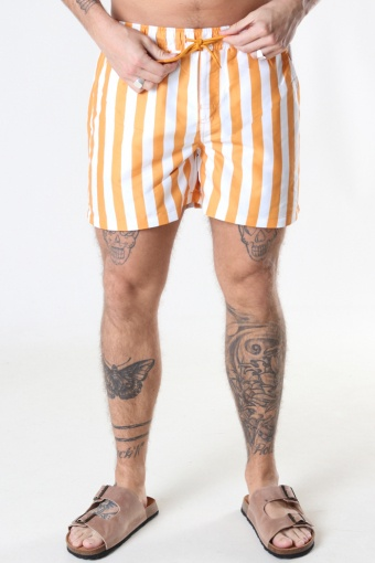 Swim Shorts Pale Orange Striped
