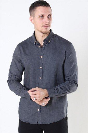 Johan Diego Cotton Overhemd Dark Grey