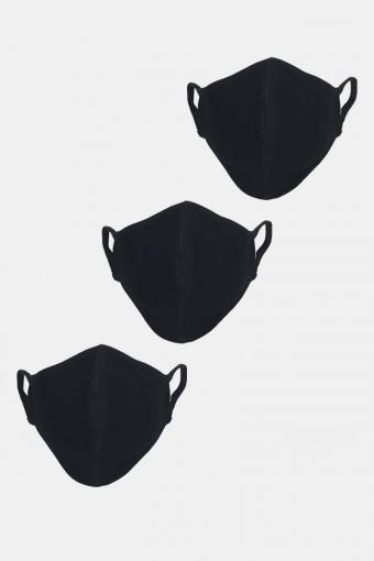 Stretch Mondstuk 3-pack Black
