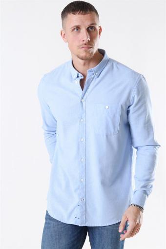 Johan Linen Overhemd Light Blue