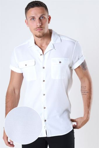 Andrew Waffle Overhemd S/S White