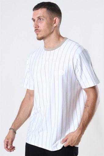 Drek Stripe T-shirt White/Ecru/kit