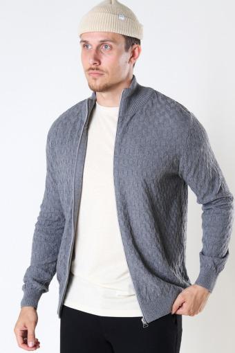 Bertil Cotton zip cardigan Anthracite