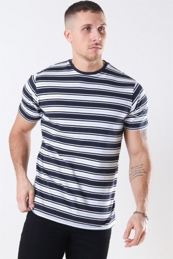 Albam T-shirt Navy / White / Grey Melange