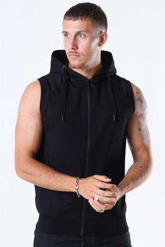 Sport Hoodie Zip SL Black
