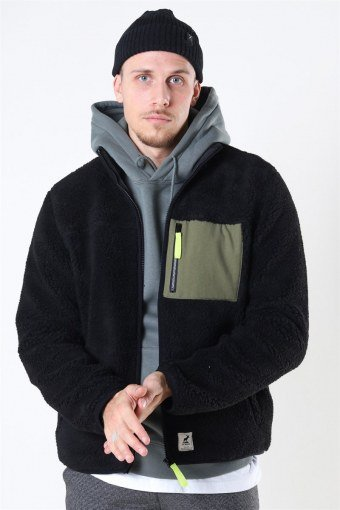Hugh Fleece Jas Black