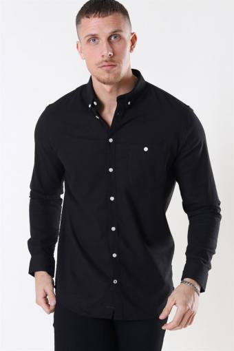 Johan Linen Overhemd Black